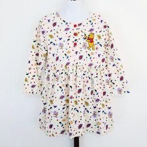 Vintage Disney Store Winnie the Pooh Fall Dress 4T